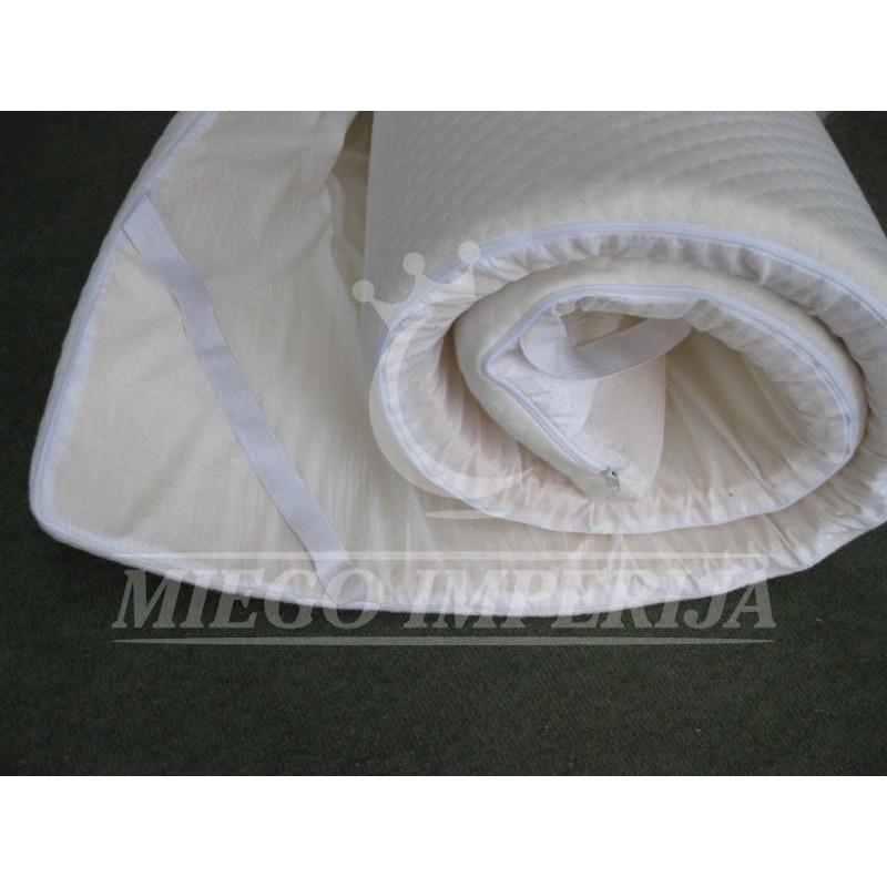 Viskoelastinės (Memory Foam) medžiagos čiužinukas 3,5 cm