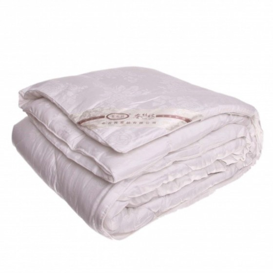 Šilko antklodė su ~1 kg šilko užpildu, plona