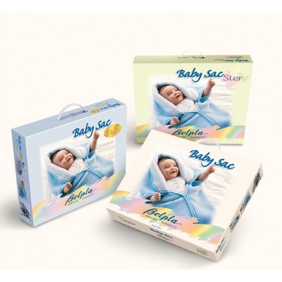 Prabangus vokelis-pledas kūdikiui BABY SAC GOLD 537