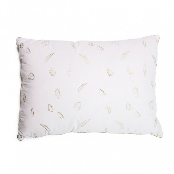 Pūkų ir plunksnų trijų skyrių pagalvė