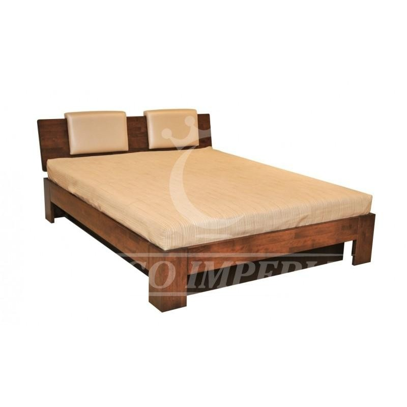 Lova RŠ-512-U iš natūralios beržo medienos su grotelėmis ir pagalvėlėmis su patalynės dėže