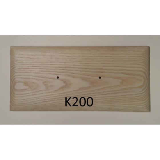 Lova GIL-12-S iš natūralios uosio medienos su grotelėmis su patalynės dėže