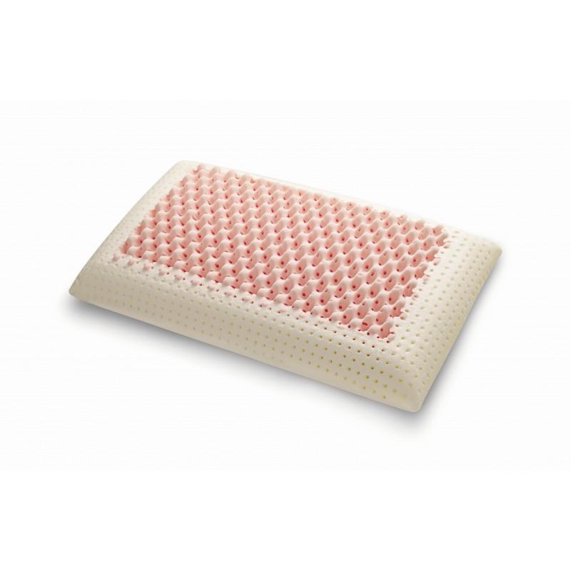 Viskoelastinė pagalvė Thermo Pink Dual Air Massage