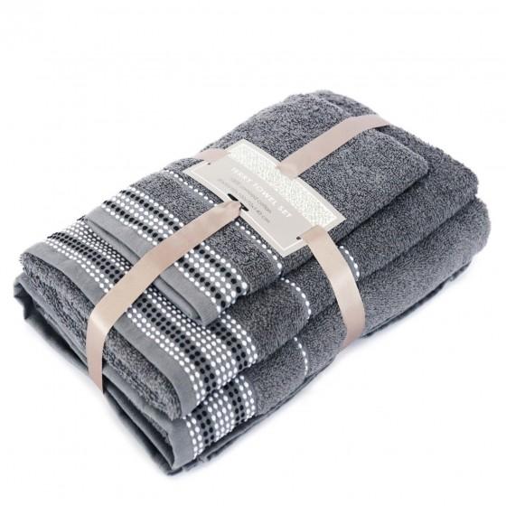 """3 dalių rankšluosčių komplektas """"Grey"""""""