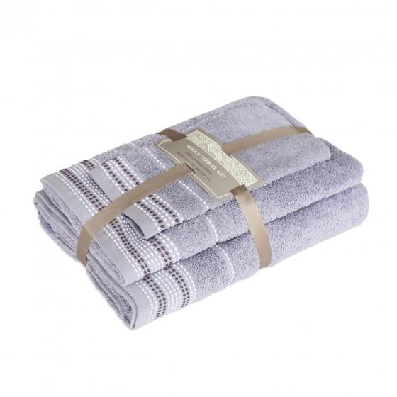 """3 dalių rankšluosčių rinkinys """"Grey blue"""""""