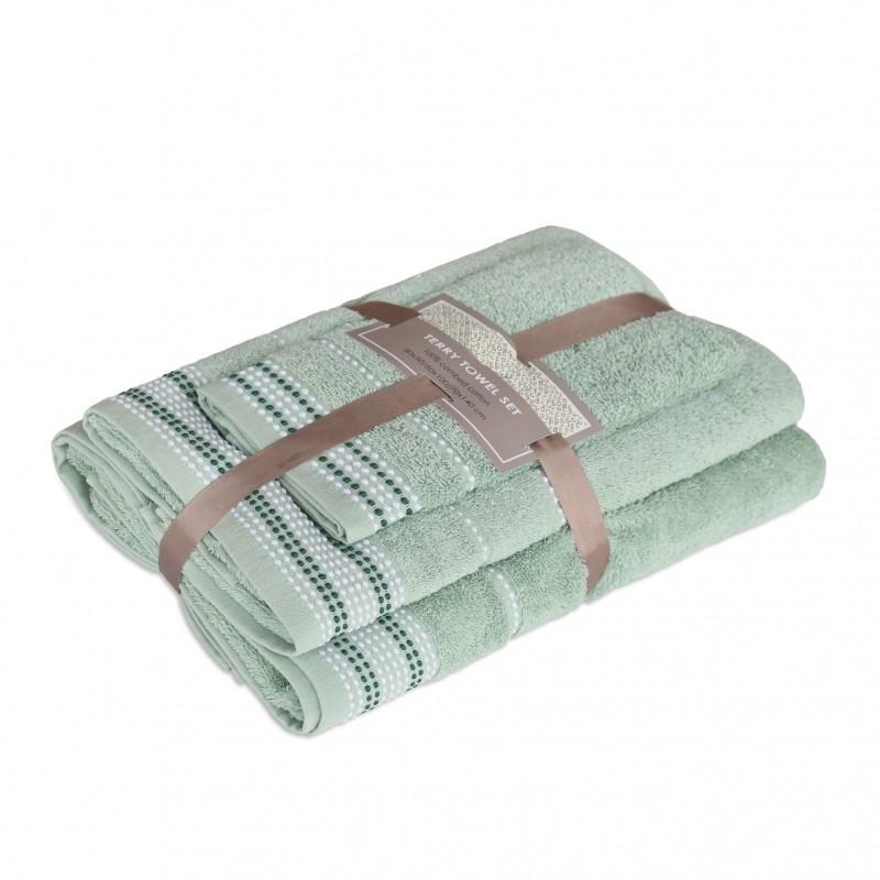 3 dalių rankšluosčių komplektas Sage