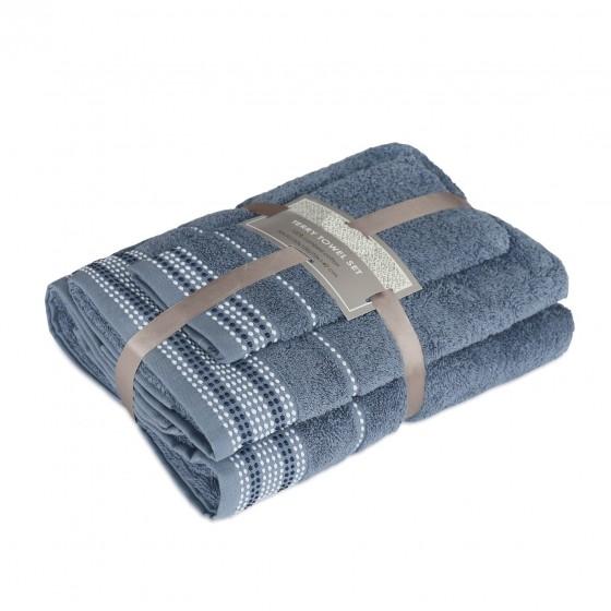 """3 dalių rankšluosčių rinkinys """"Stone blue"""""""