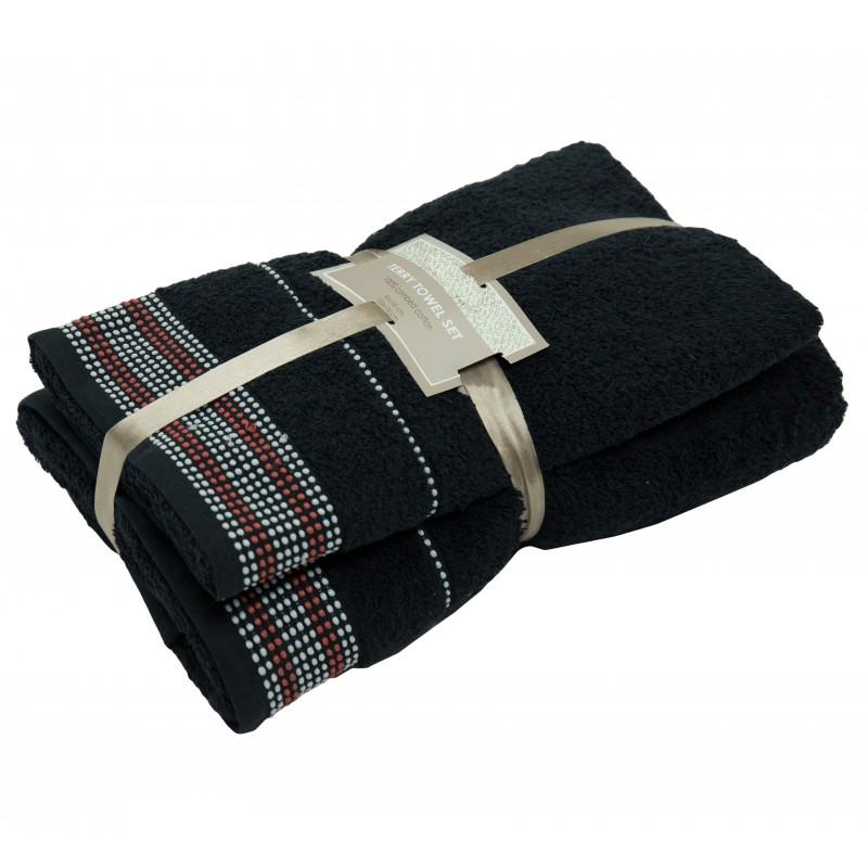 2 dalių rankšluosčių komplektas Black