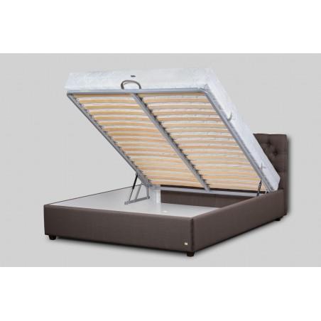 Inovatyvi ir ilgaamžiškumą užtikrinanti lovos grotelių konstrukcija.