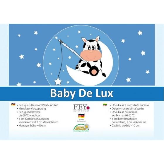 Vaikiškas putų poliuretano čiužinys BABY DE LUXE ~10 cm