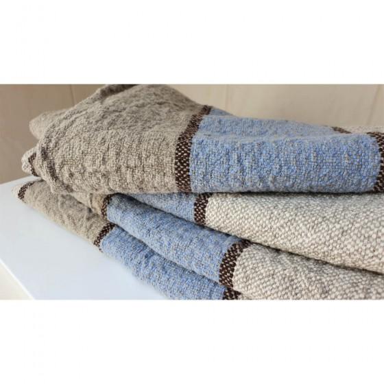 Juostuotas lininis vonios rankšluostis