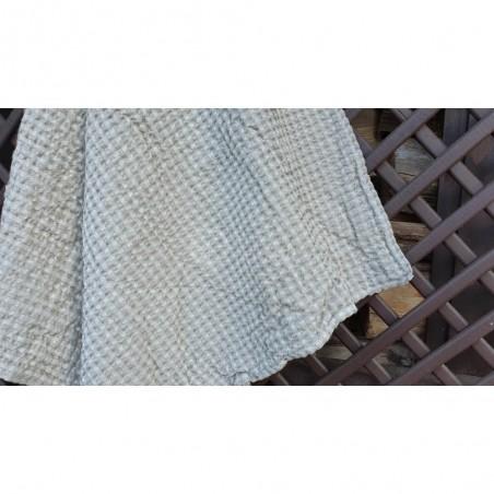 Puslininis vaflinis pilkas rankšluostis