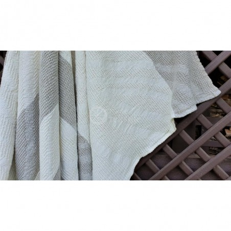 Lininis rankšluostis baltomis juostomis