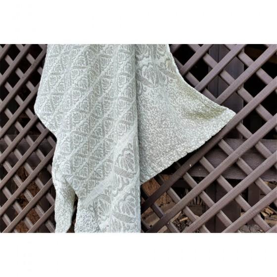 Puslininis žakardinis rankšluostis su įvairiais ornamentais (linas 75%)
