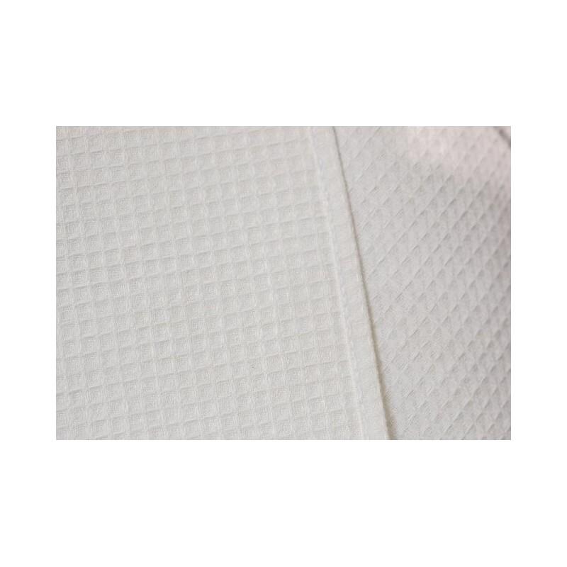 Puslininis vaflinis pirties rankšluostis baltas
