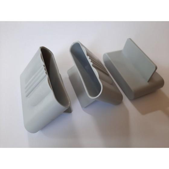 Plastikinis lovų grotelių laikiklis apvalintais galais (50x10/12 mm)