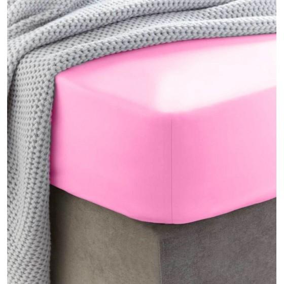 Rožinė frotinė paklodė su...